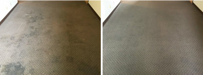 Cleaning process for carpet